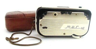 MEC 16 SUB-MINIATURE CAMERA GOLD with ORIGINAL CASE