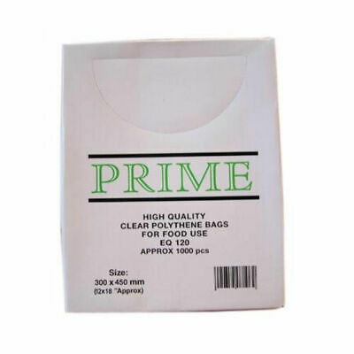 Clear Poly Weighout Bags (12x18'') 1000Pack