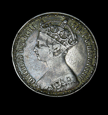 1883 Great Britain Florin (2 Shillings)  KM# 746.4 Victoria