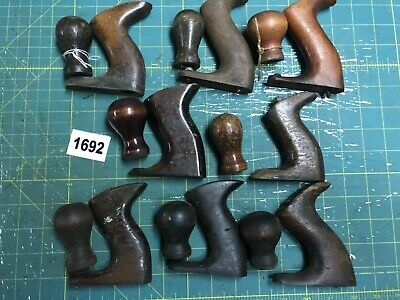 Lot of 8 Sets of Vtg Plane Tote Handles and Knobs w Hardware Screws Parts (1692