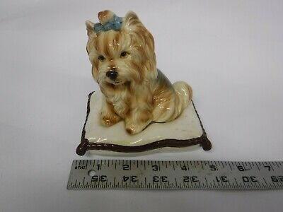 Yorkshire Terrier Yorkie Dog On Pillow
