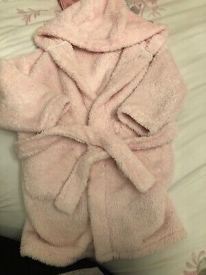 Girls Next Snuggle Pink Dressing Gown Hood Age 4-5