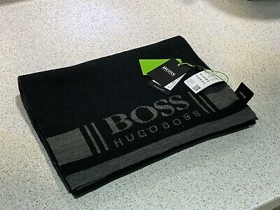 Hugo Boss Black & Grey Mens Scarf