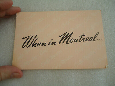 "Vintage Canada Postcard  Cafe Martin  ""When in Montreal"""