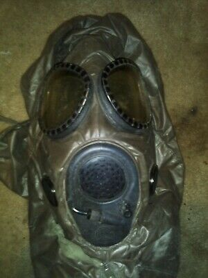 Military Biological Chemical Gas Mask With Carrying Bag