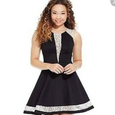 Marilyn Monroe Dress Black White Lace Womens Juniors Size Large Fit And Flare
