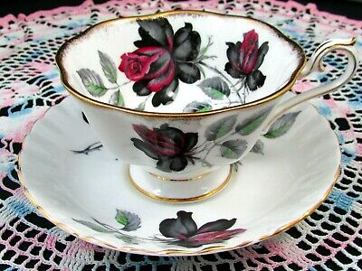 Royal Albert Masquerade Roses  Avon Shape Tea Cup And Saucer