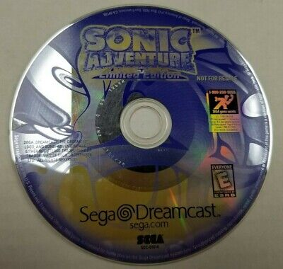 Sonic Adventure Limited Edition loose disc only Sega Dreamcast