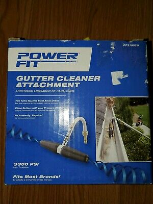 Power Fit Gutter Cleaner Attachment PF31052B Pressure Washer Powerfit Nozzle