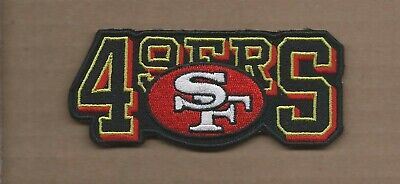 New 1 3/4 X 4 Inch San Francisco 49Ers Iron On Patch Free Shipping A1