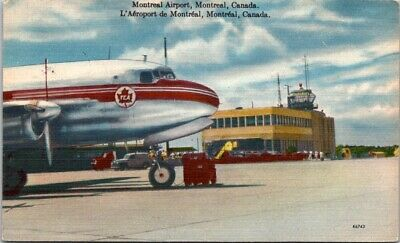 Postcard Vintage Montreal Airport Flights United States To Canada Posted