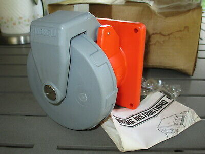 NOS Hubbell 460R12W Pin & Sleeve Watertight Receptacle 60A 125/250V 3 Pole 4Wire