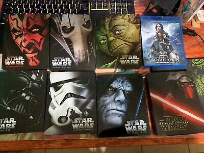 Star Wars Steelbook Lot Episodes I-VII (Blu-ray Disc SteelBook)
