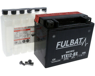 Batterie Fulbat YTX12-BS Yamaha TDM 850,FZR600,YFM600,YZF600, ARCTIC CAT, CAN-AM