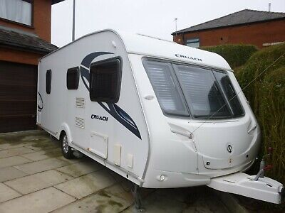 Sterling Cruach 495S Fixed Bed 4 Berth Caravan With Mover Mint 2010 Edition