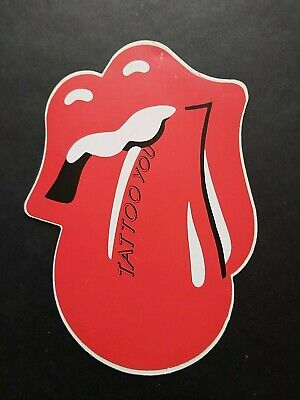 Alter Aufkleber Rolling Stones Zunge TATTOO YOU