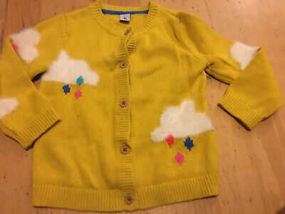 Tu Girls Yellow Fluffy Cloud Cardigan 12-18 Months
