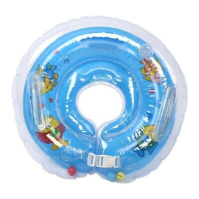 Baby Infant Swimming Pool Bath Neck Floating Inflatable Ring Circle Bathing Toy
