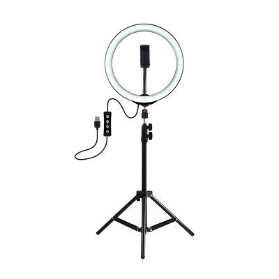 "LED Ring Light 10"" Camera Fill Lamp With Tripod Stand For YouTube Video Live 8F"