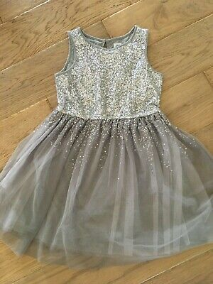 Girls beautiful silver sequinned party dress size M 8 -10 from Next Never Worn