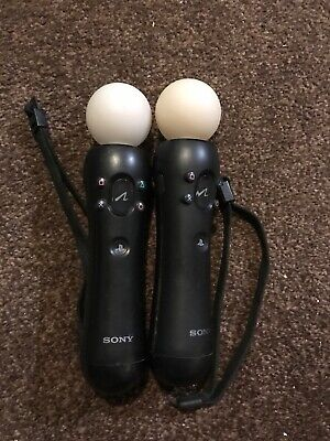 2 x Official Sony PlayStation Move Motion Controllers  PS3 PS4