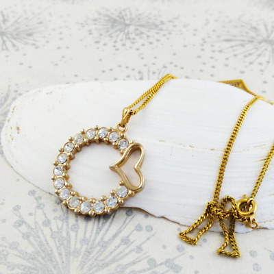 Love Heart Necklace - Romantic Jewellery - Something Old for Bride