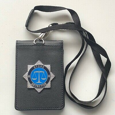Store Detective Identity / Warrant Card Holder & printed Lanyard