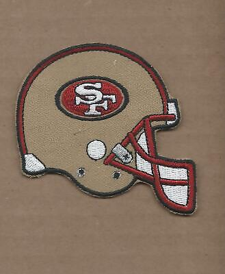 New 2 1/2 X 3 Inch San Francisco 49Ers Helmet Iron On Patch Free Shipping A1