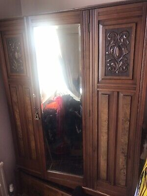 Antique Double Mirror Wardrobe