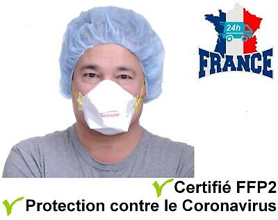 Lot de 20 Masques FFP2/N95 EN149 anti-viral protection Pneumonie virale