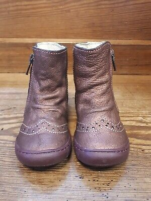 Primigi girls Chalice bronze leather boot with zip size UK 4.5 EU 21 BNIB