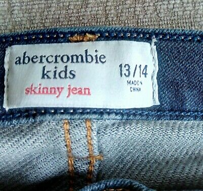 Boys Blue Denim Skinny Jeans Abercrombie  -  Age 13-14 Years - used