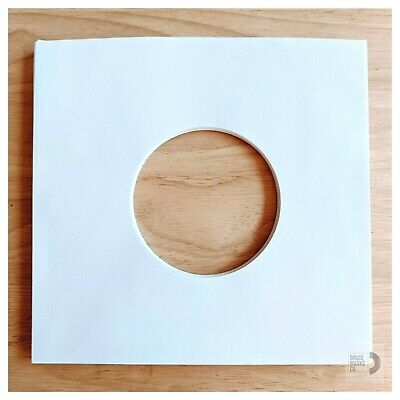 "50 SHEETS - WHITE PAPER RECORD SLEEVES FOR EPs 7"" VINYL RECORDS (45RPMs)"