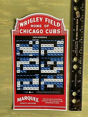 BRAND NEW IN HAND!!  2020 Cubs Convention Official Marquis Game Schedule Magnet