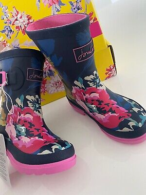 BNWB JOULES GIRLS WELLY ANNIVERSARY FLORAL Size Uk 9