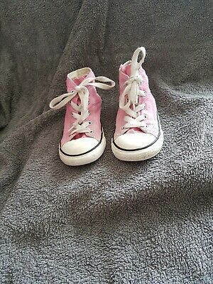 Girls Pink Converse Boot Infant Size 10 Uk