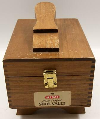Vintage KIWI Hand Crafted Shoes Valet Shoe Shine Wooden Box