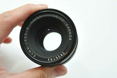Leica 50mm F2 Summicron-R 3-Cam Leitz Lens *Stuck Focus Ring* For Parts