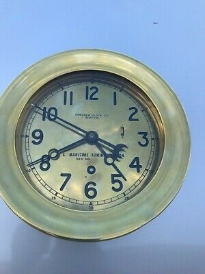 Vintage Chelsea Clock - U.S. Maritime Commission - Working