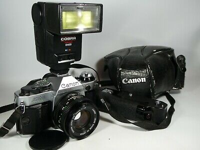 Old Vintage CANON AE-1 Program SLR 35mm Film Camera  Set