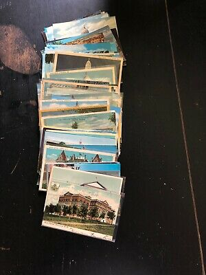 Lot Of 130 Postcards Of US State Capitols All Vintage From 1900-1960s