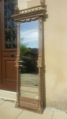 Large French Antique Hall/dressing Mirror