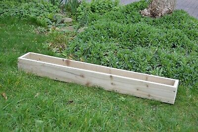 Tanalised Garden Wooden Trough Planter for Flowers, Vegetables, Herbs