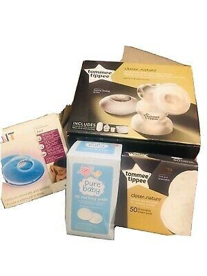 Tommee Tippee Electric Breast Pump  Closer to Nature And Breast Pad Bundle