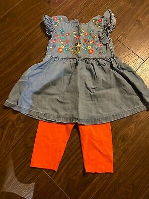Girls Top And Cropped Leggings Age 1.5-2