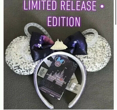 Disney Parks Space Mountain Minnie Mouse Main Attraction Ears Headband Hat