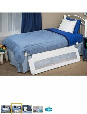 Regalo Baby 2220 54in. Extra Long Swing Down Bed Rail - White