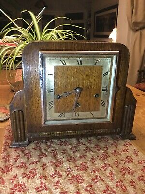 Mantle clock Westminster chimes. Art Deco design.  Been in loft for years....