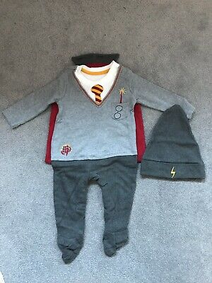 George At Asda Harry Potter Baby Outfit With Hat & Cape - 6-9 Months
