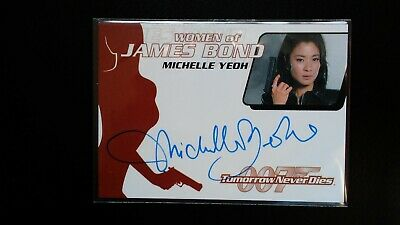 James Bond 007 Women of Bond WA17 MIchelle Yeoh Autograph Rittenhouse RARE